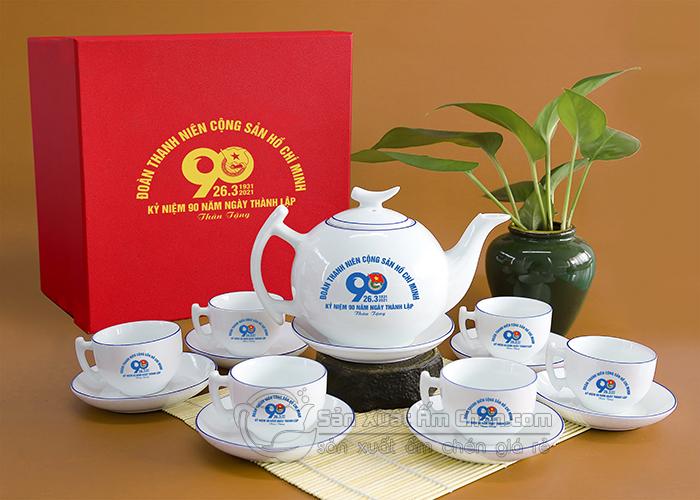 Sản xuất cung cấp bộ ấm chén quà tặng đại hội theo yêu cầu giá rẻ