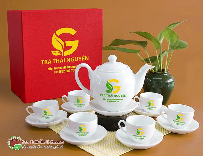 Top 50 bộ ấm chén Bát Tràng in logo giá dưới 200 000