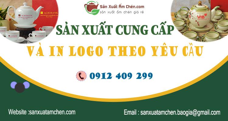 GỢI Ý 20 bộ ấm trà Bát Tràng in logo giá dưới 400 000đ